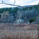 View of the inn across the Battenkill River