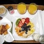 Breakfast each morning!