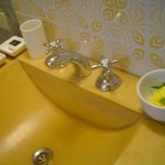 Yellow room batrhroom modern sink