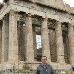 In front of Parthenon in Acropolis, a couple of blocks away from Athens Gate Hotel