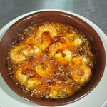 our famous sizzling prawns
