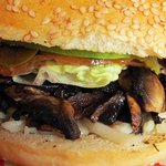 Our spectacular mushroom burger, perfect for vegetarians.