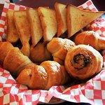 Freshly baked bread for breakfast or dessert.