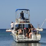 Native Sons dive boat - the best in West End