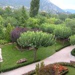Vista giardino dal balcone della mia stanza
