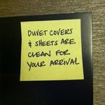 Nice note left by housekeeping!