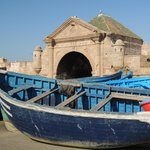The old harbor and gate of Essaouira.