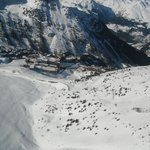 Club Med Les arcs from the air