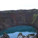 The Kerið volcanic crater lake