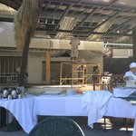 Dining area under construction