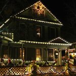 "The house all lit up during ""nights of lights"""
