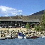 Western Riviera Motel from boat on Grand Lake