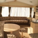 Spruce caravan view of lounge and dining area