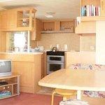 3 bedroom caravan - View of lounge/kitchen area