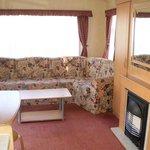 3 bedroom caravan - view of lounge area