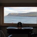 Bedroom window and breakfast table