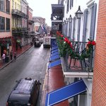 Bourbon Street from the balcony
