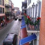 Bourbon Street from the balcony