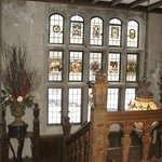 this beautiful details in the glass are over 400 years old! imported from England