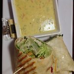 Chicken Caesar Wrap with a side of Broccoli Cheddar Soup!