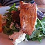 Salmon on a Salad