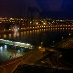 Night shot of the river from our room