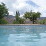 Linda piscina con una increíble vista