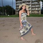 My lovely wife posing in Ka'anapali Beach
