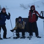 Snowshoeing on the fjord