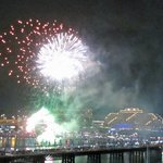 Fireworks in Darling Harbour - viewed from our room