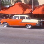 56 Chev in front of local hang out