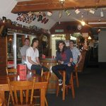here we are at the barn cafe :)