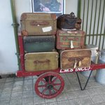 Downpatrick - Suitcases in the trainstation