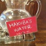 taste the hakuba's water