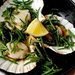 Scallops with samphire