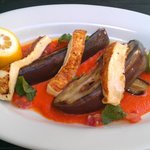 Eggplant & haloumi