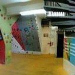 Downstairs bouldering room