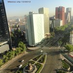 View from 7th fl on Reforma and Colombus statue