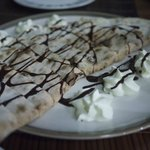 To die for - chocolate hazelnut Calzone