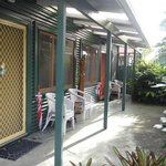 The verandah of our studio apartment
