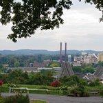 The town of Hershey overlook