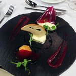 Bosworth Ash goats cheese three ways, beetroot and balsamic