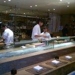 Zona sushi e sashimi