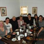 Family dinner at Temaki's