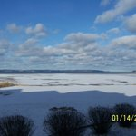 Ice on East  Bay of Traverse Bay looking toward Lake Michigan