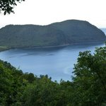 Our gorgeous view of Cabrits National Park and Douglas Bay