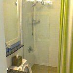 Bathroom with spa shower head