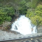 Small waterfall along the train ride
