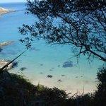 eaux turquoises de la crique de Beg An Fry