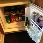 Mini bar was pretty well stocked.
